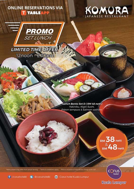 komura japanese restaurant japanese corus hotel kuala lumpur kuala lumpur tableapp. Black Bedroom Furniture Sets. Home Design Ideas